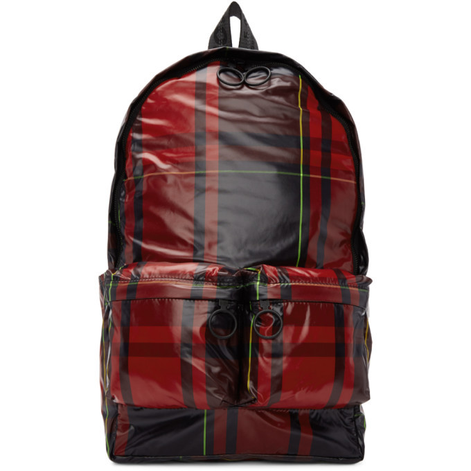 Photo: Off-White Red Check Backpack
