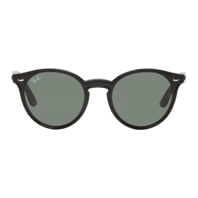 Photo: Ray-Ban Black and Green Blaze RB4380N Sunglasses
