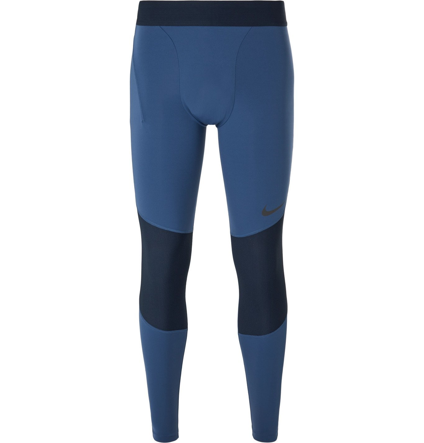 Photo: Nike Training - Pro Mesh-Panelled Stretch-Jersey Tights - Blue