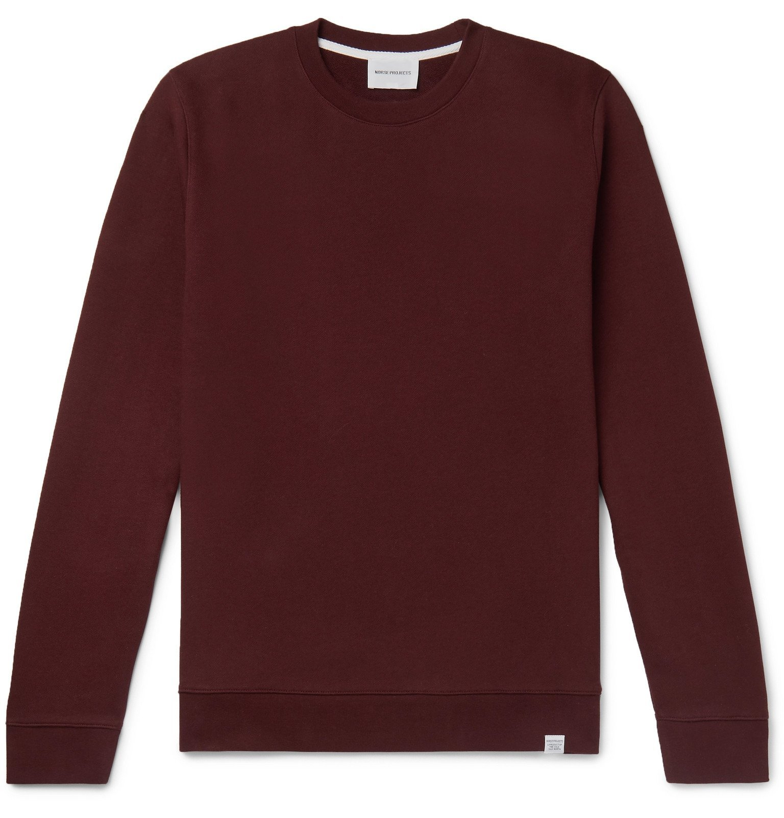 Photo: Norse Projects - Vagn Fleece-Back Cotton-Jersey Sweatshirt - Burgundy