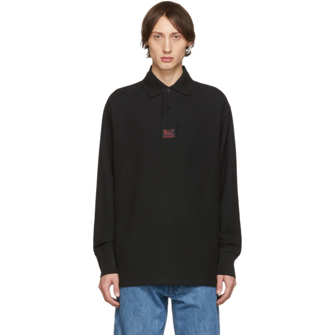 Photo: Raf Simons Black Heroes Long Sleeve Polo