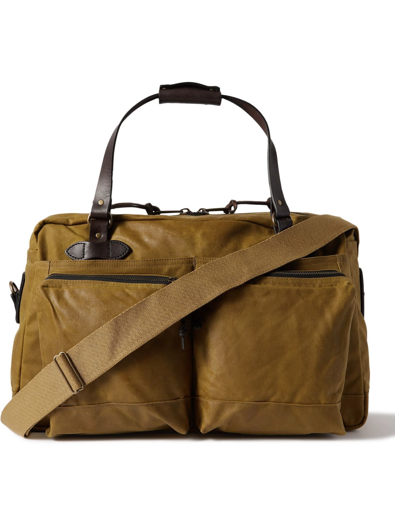 Photo: FILSON - 48-Hour Leather-Trimmed Tin Cloth Duffle Bag