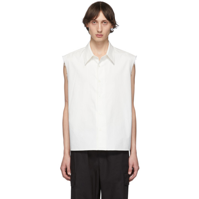 Photo: Our Legacy White Cut Cost Sleeveless Company Shirt