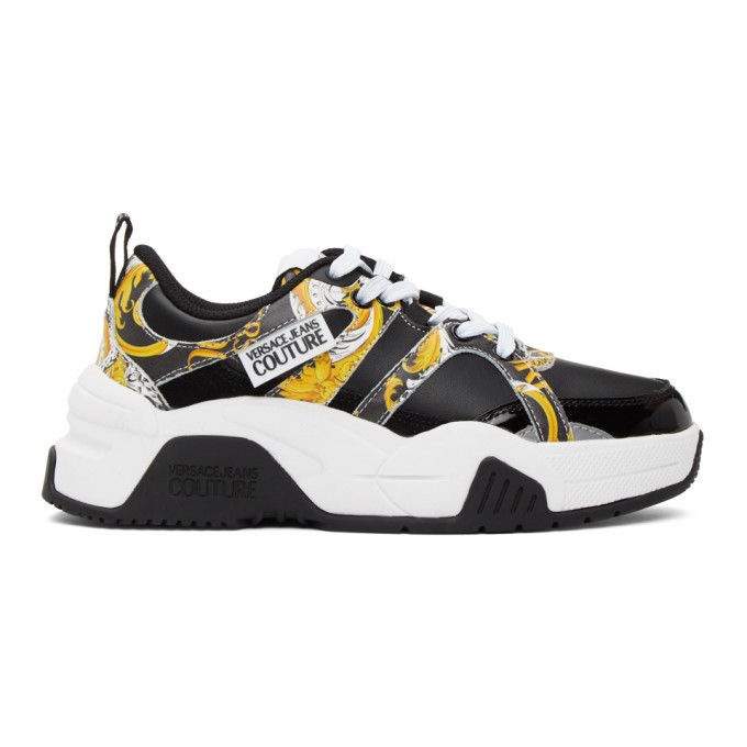 Photo: Versace Jeans Couture Black Logo Baroque Sneakers