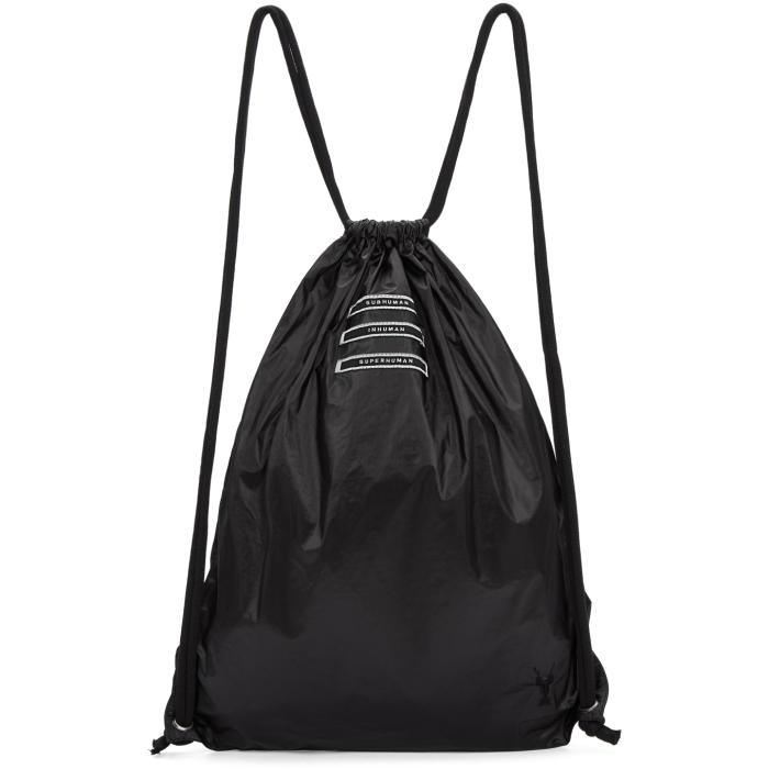 Photo: Rick Owens Drkshdw Black Drawstring Backpack