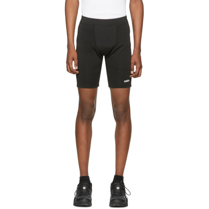 Photo: 032c Black Tight Logo Shorts