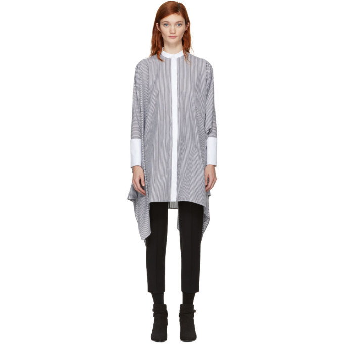 White and Black Shirting Stripe Dress Alexander McQueen BJbH6gQ6