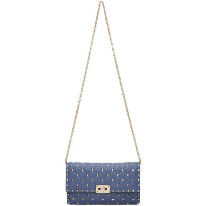 Photo: Valentino Blue Rockstud Spike Bag