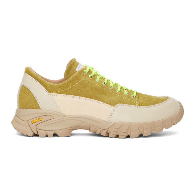 Photo: Diemme Beige and Green Possagno Sneakers