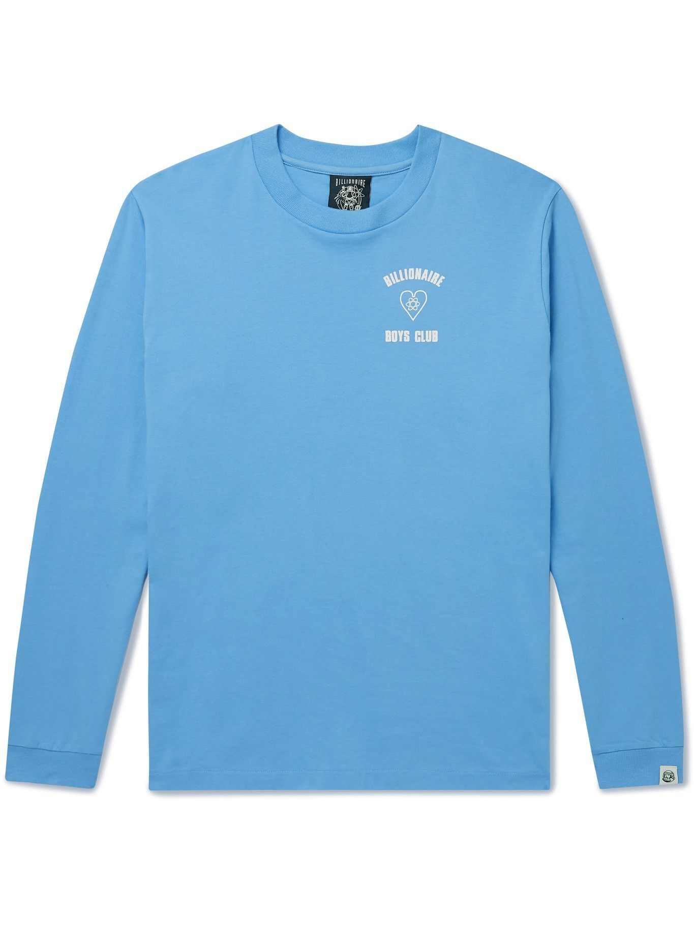 Photo: Billionaire Boys Club - Logo-Print Cotton-Jersey T-Shirt - Blue
