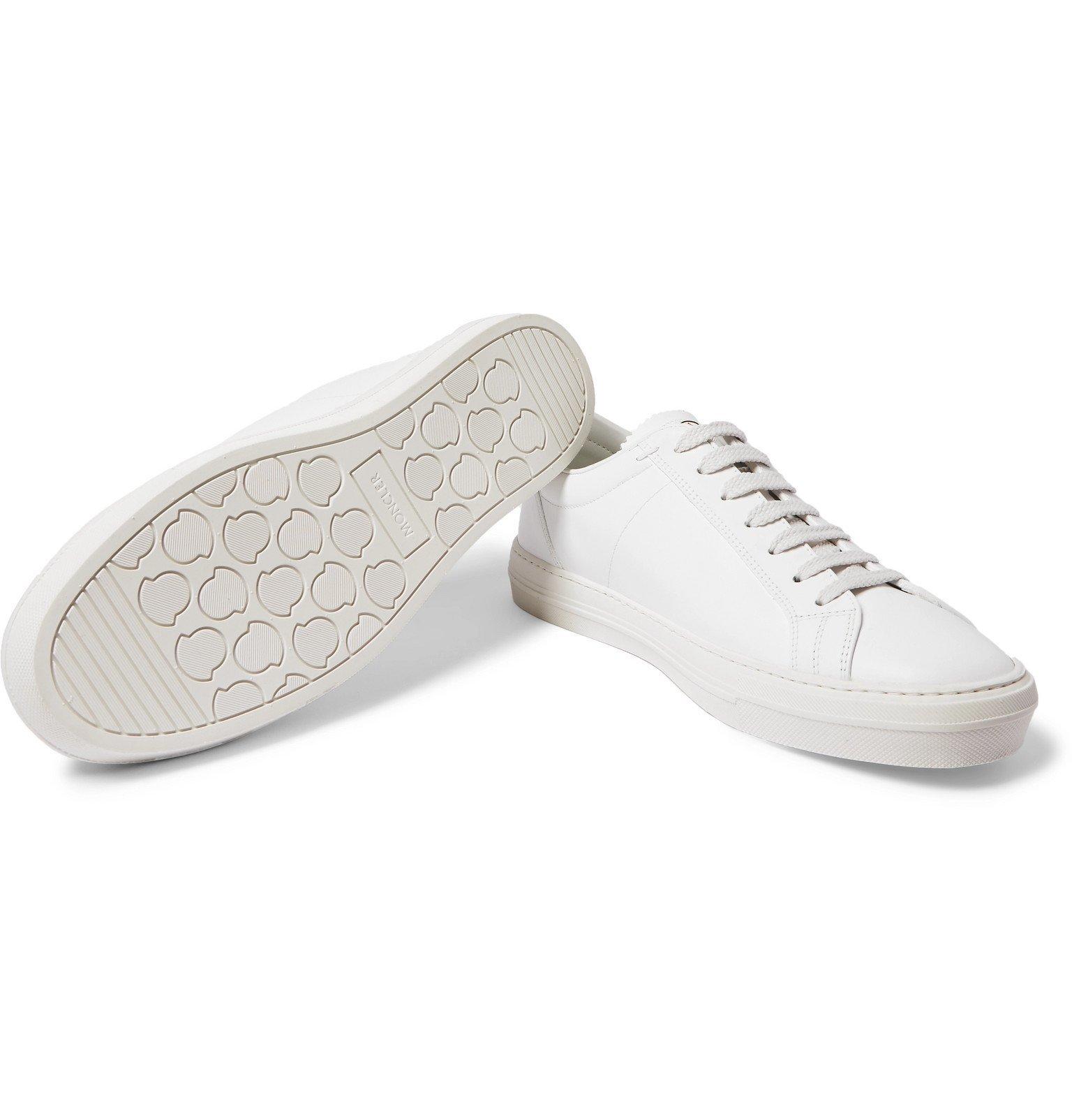 Moncler - Monaco Leather Sneakers - White