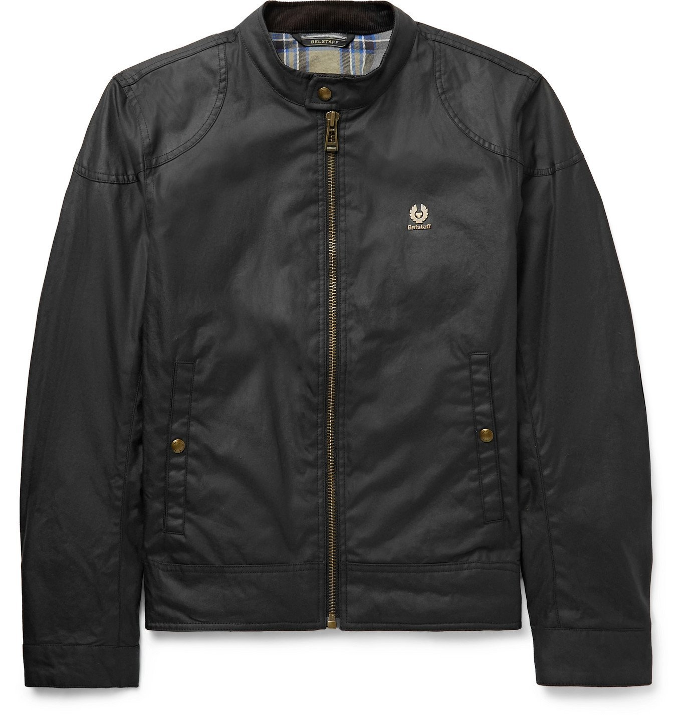 Photo: BELSTAFF - Kelland Logo-Appliquéd Waxed-Cotton Jacket - Black