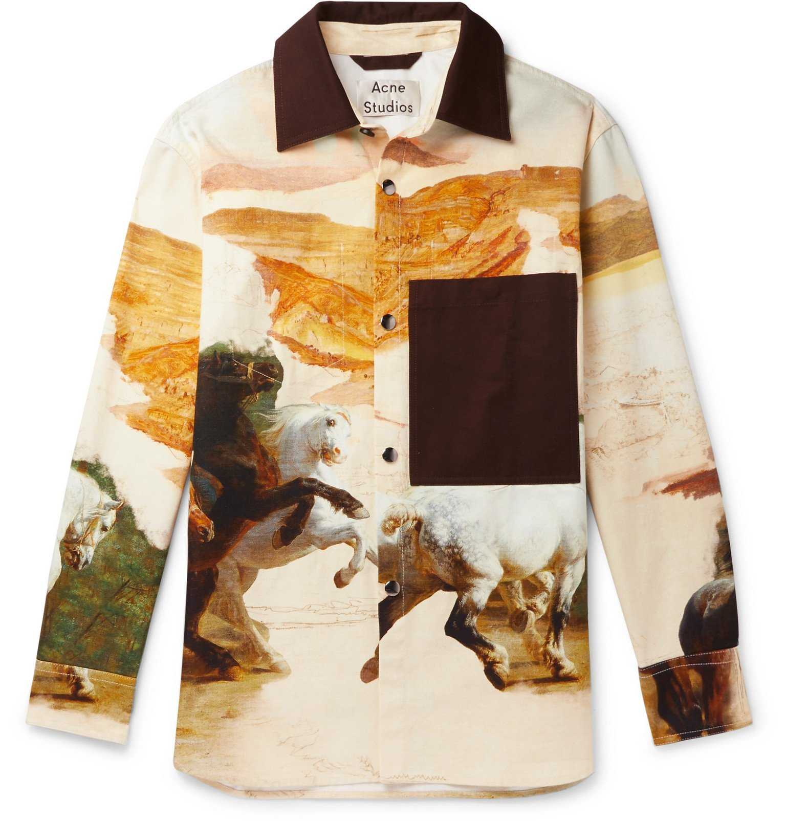 Photo: Acne Studios - Osmar Printed Cotton-Canvas Overshirt - Neutrals