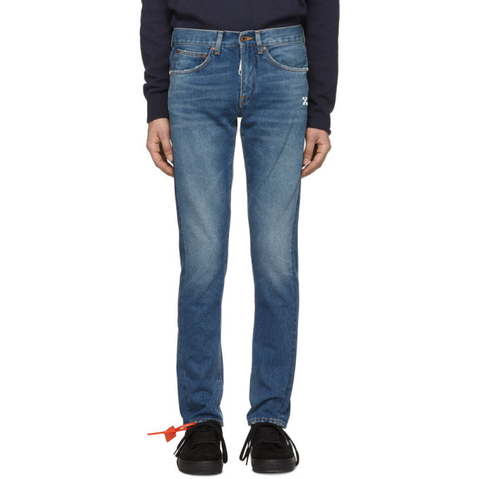 Photo: Off-White Blue Diag Slim Jeans