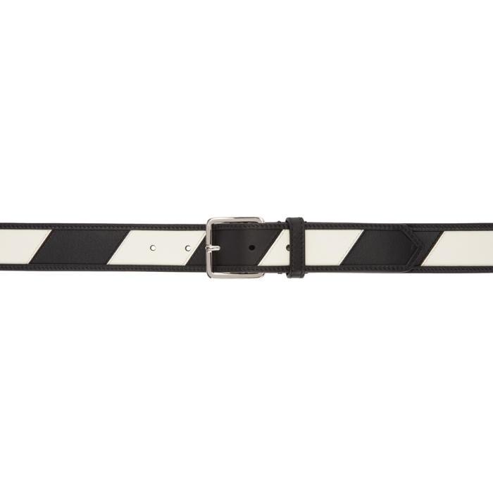 Photo: Calvin Klein 205W39NYC Reversible Black and White Stripe Belt