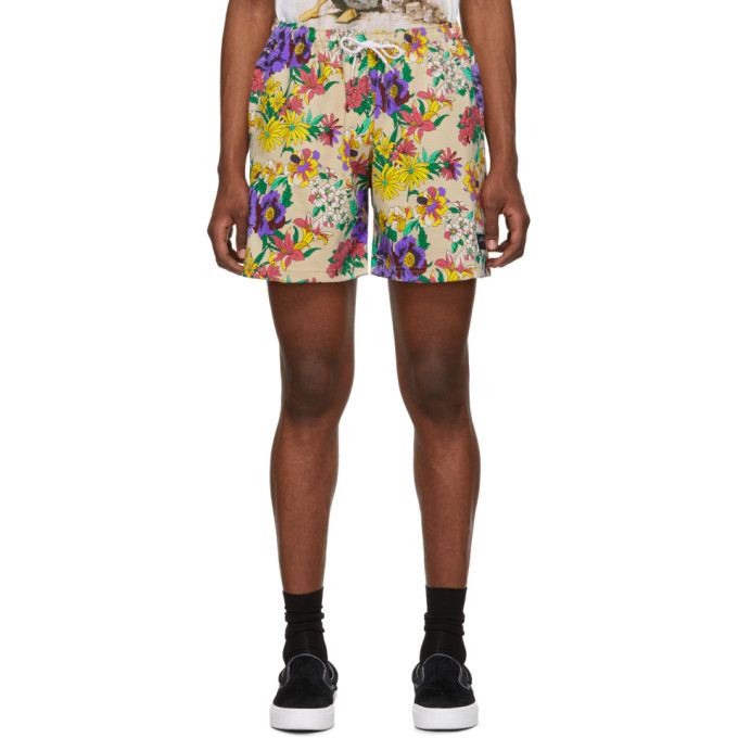 Photo: Noah NYC Beige and Multicolor Floral Rugby Shorts