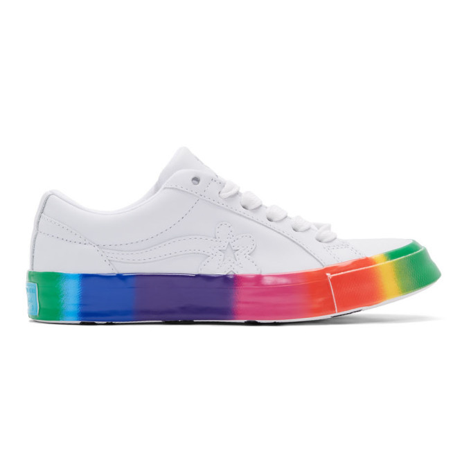 Photo: Converse White Golf le Fleur* One Star OX Rainbow Sneakers