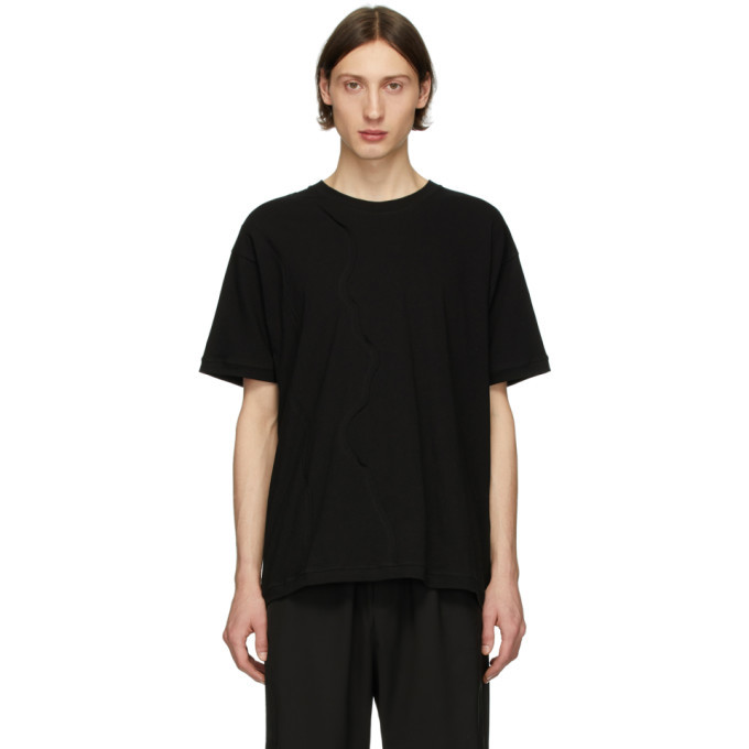 Photo: Isabel Benenato Black Detailed Front T-Shirt