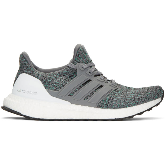 adidas Originals Grey and Blue UltraBOOST Sneakers