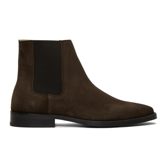 Photo: Tiger of Sweden Brown Suede Brake Chelsea Boots