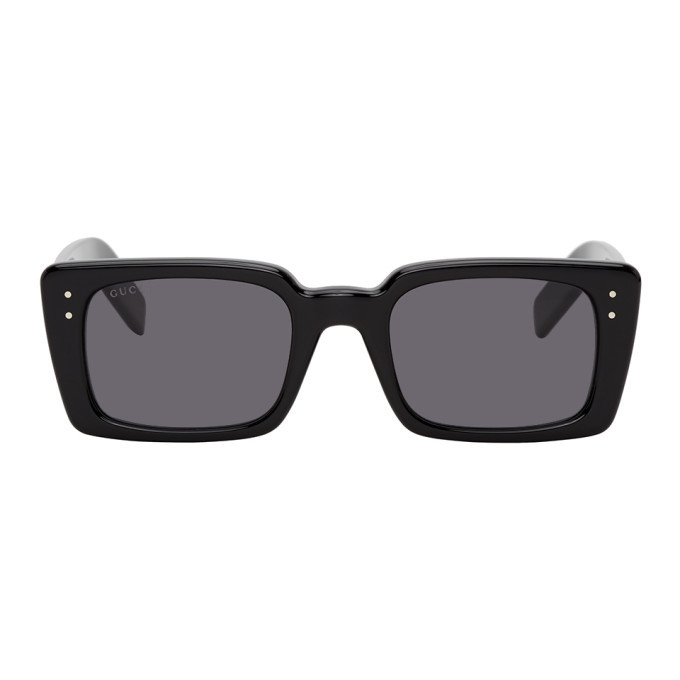 Photo: Gucci Black Rectangular Sunglasses