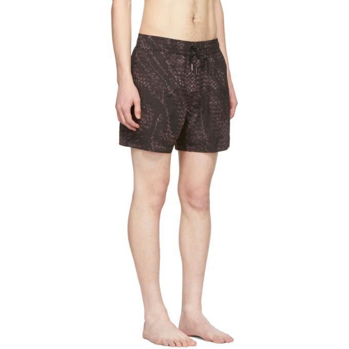 Bottega Veneta Black Intrecciato Swim Shorts