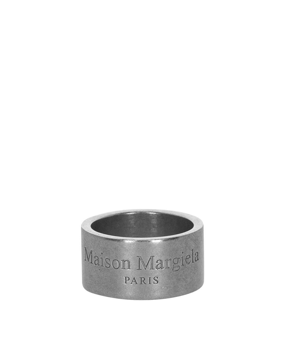 Photo: Maison Margiela Logo Wide Ring Palladio Semi Polished