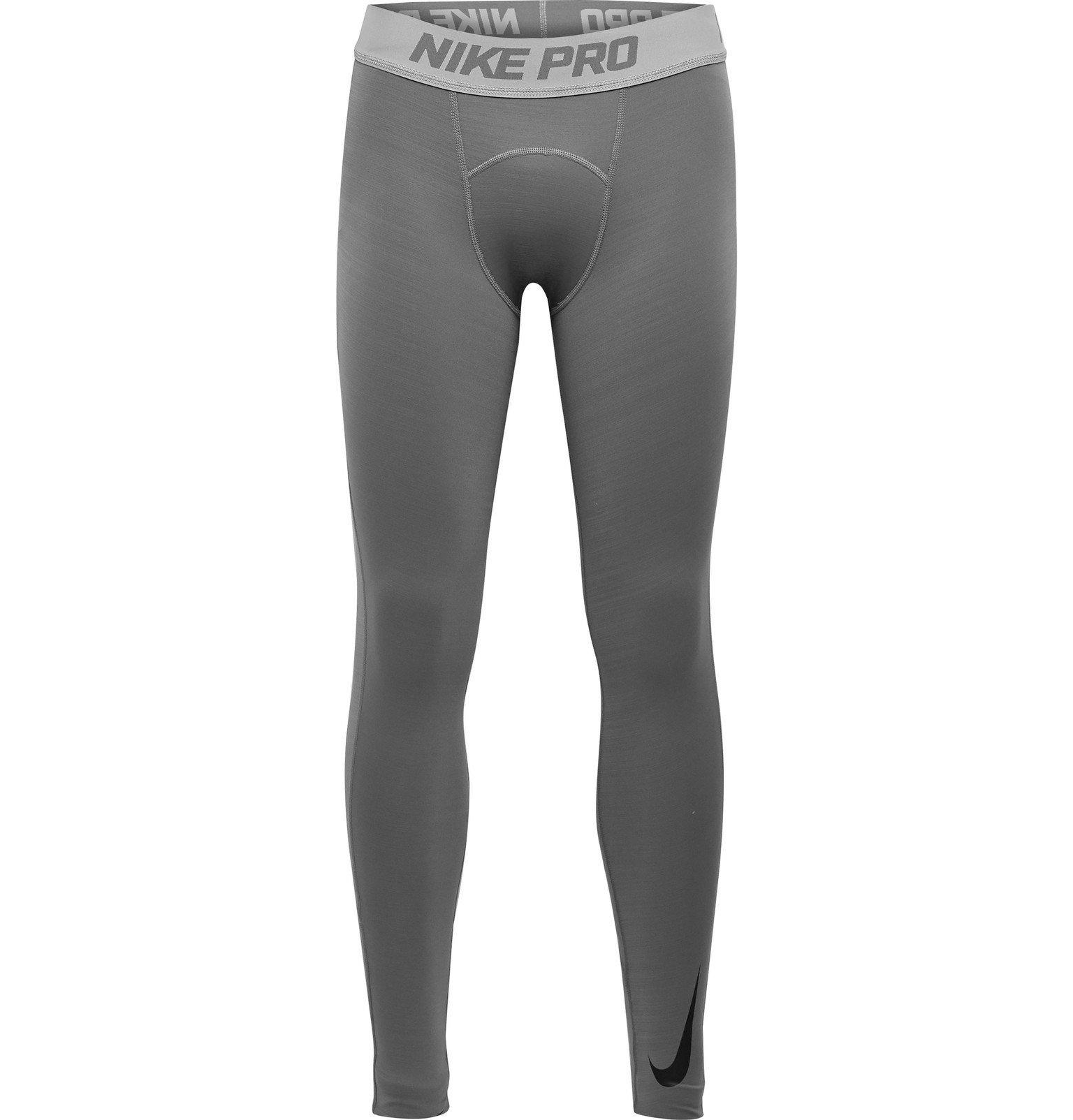 Photo: Nike Training - Pro Dri-FIT Therma Tights - Gray