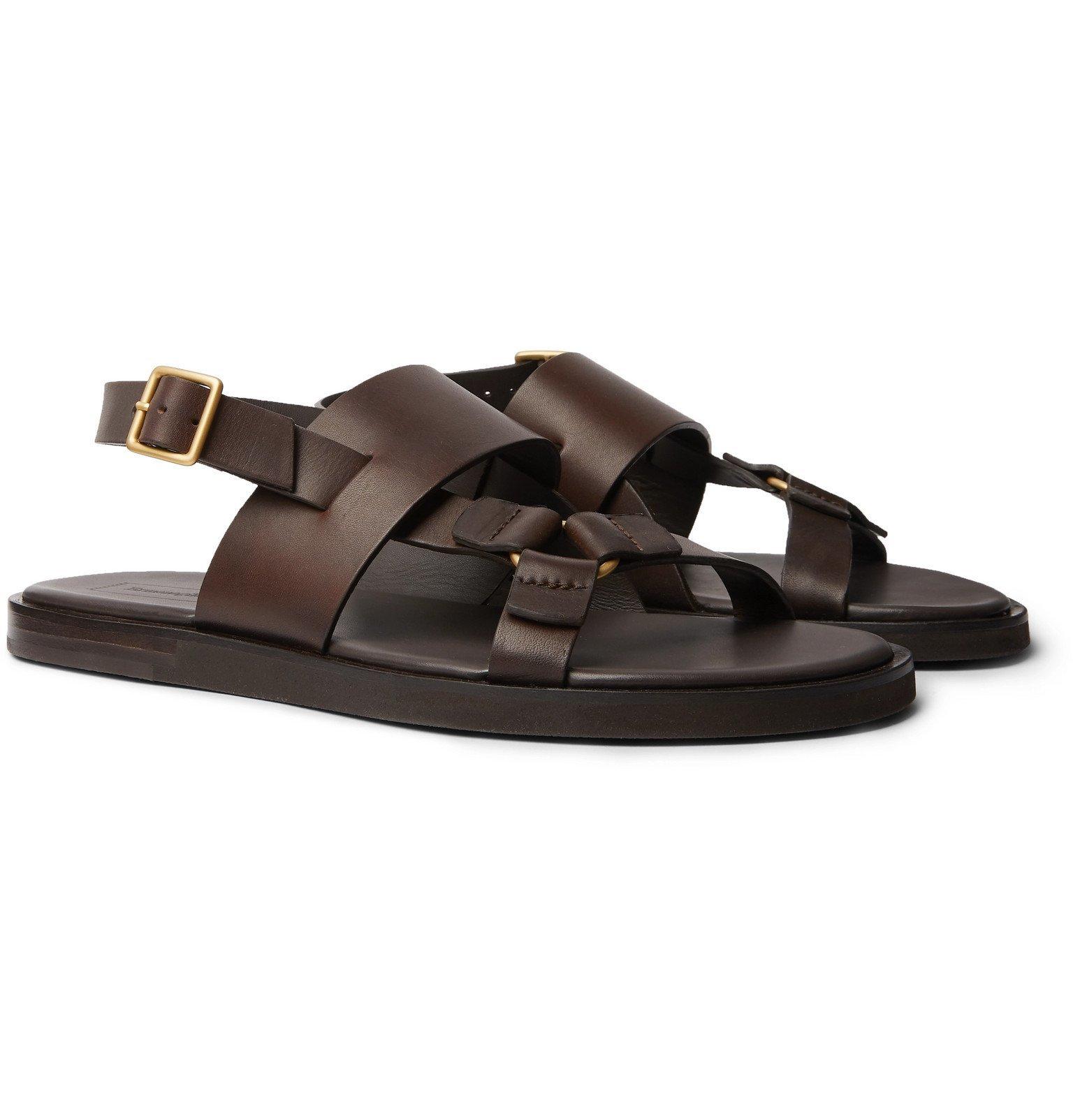Photo: Ermenegildo Zegna - Leather Sandals - Brown