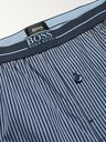 HUGO BOSS - Striped Cotton-Poplin Pyjama Trousers - Blue