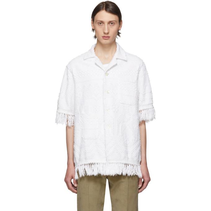Bode White Toweling Louie Shirt