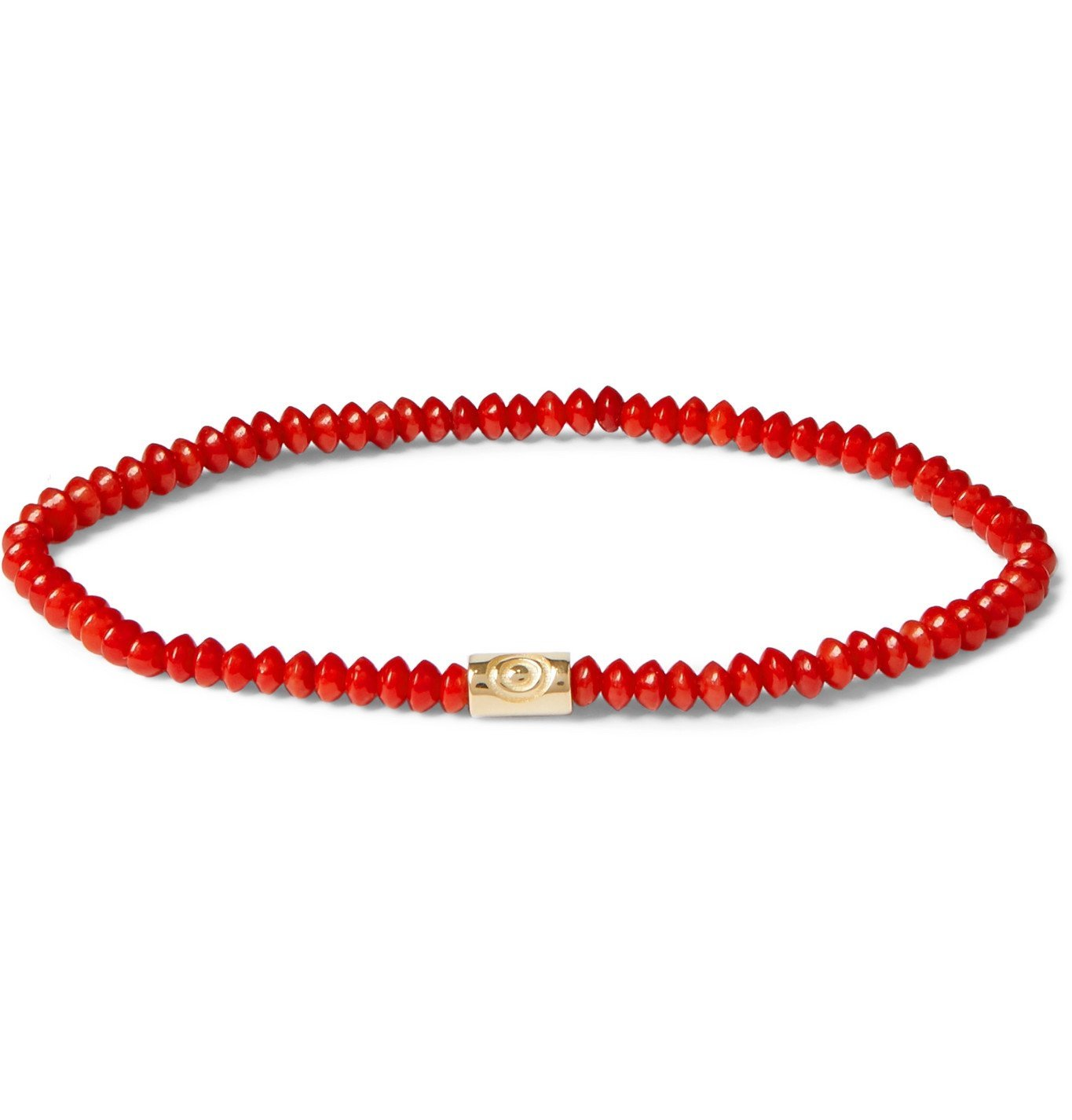 Photo: Luis Morais - Gold and Bead Bracelet - Red
