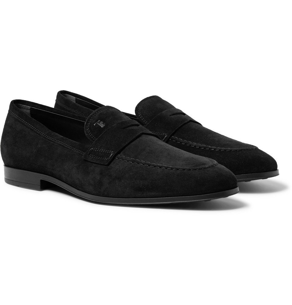 Photo: Tod's - Suede Penny Loafers - Black