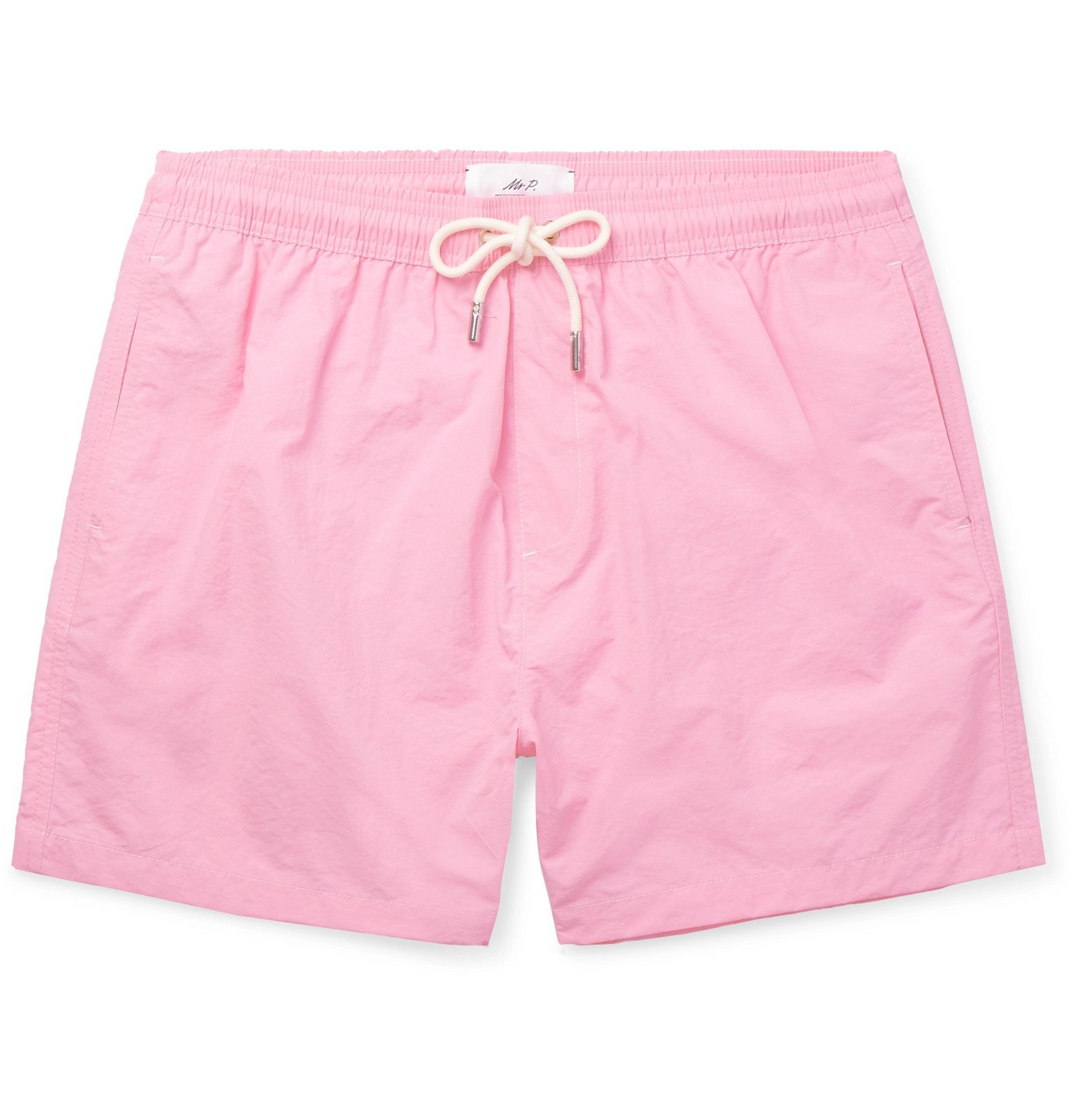 Photo: Mr P. - Mid-Length Swim Shorts - Pink
