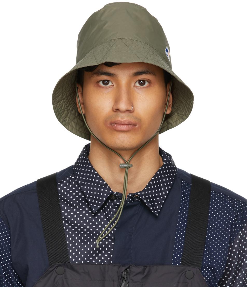 Photo: Engineered Garments Khaki K-Way Edition Pascalen 3.0 Bucket Hat