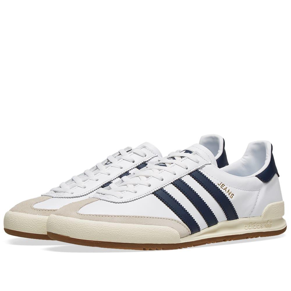 Photo: Adidas Jeans White, Collegiate Navy & Brown