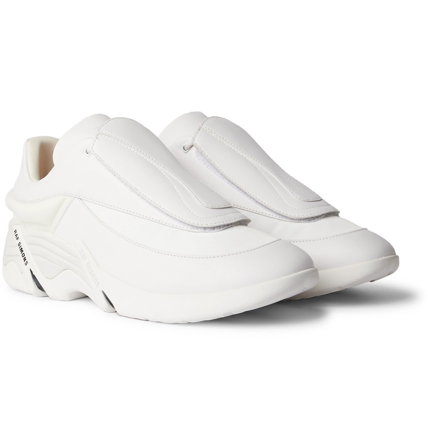 Raf Simons - Antei Rubber-Trimmed Leather Sneakers - White