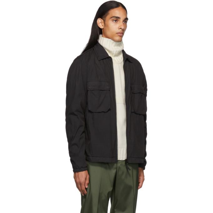 Stone Island Black Overshirt Jacket