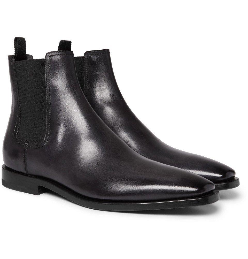 Photo: Berluti - Leather Chelsea Boots - Men - Black