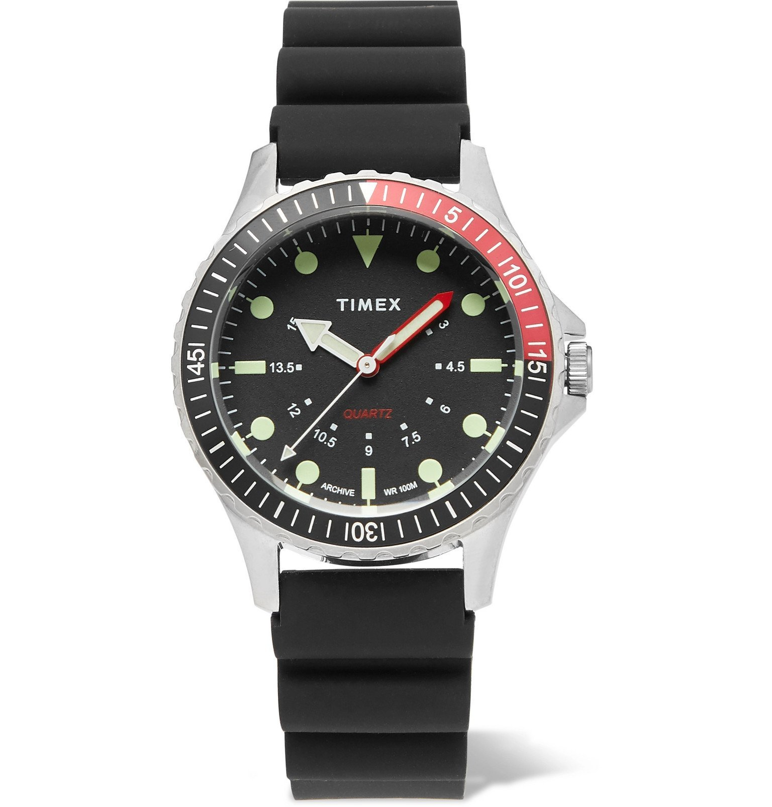 Photo: Timex - Navi Depth Stainless Steel and Rubber Watch - Black