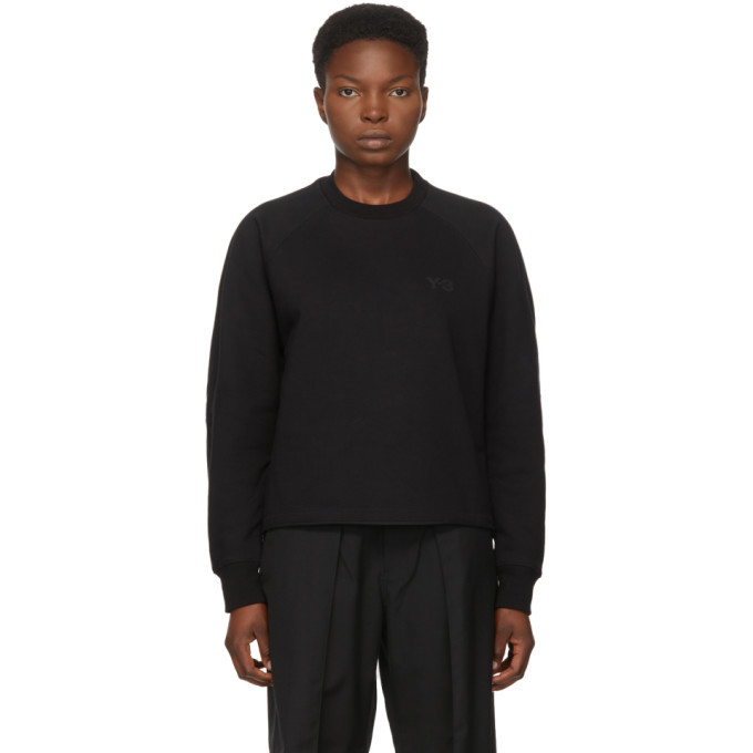 Photo: Y-3 Black Classic Logo Crewneck Sweatshirt