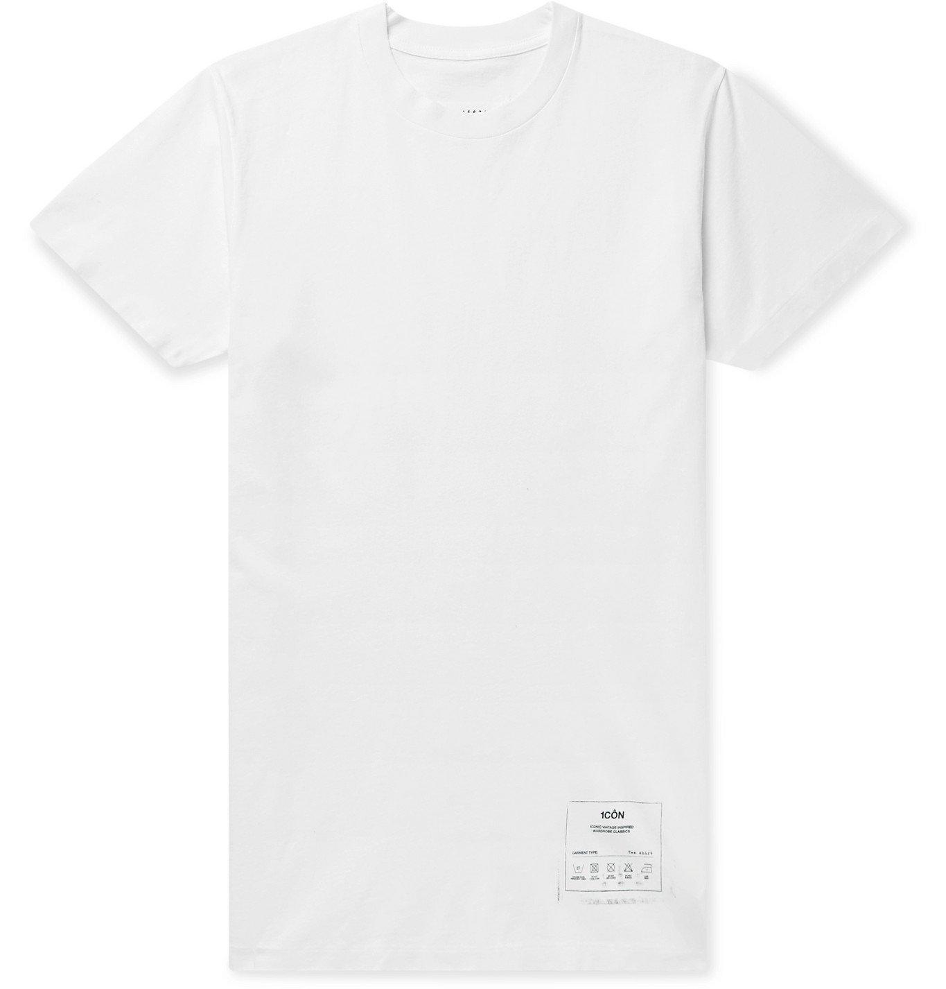 Photo: MAISON MARGIELA - Printed Cotton-Jersey T-Shirt - White