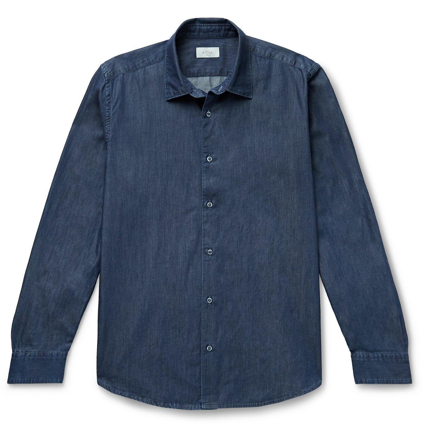 Altea - Cotton-Chambray Shirt - Blue