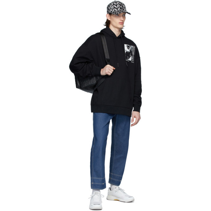 McQ Alexander McQueen Black Oversized Super Big Hoodie