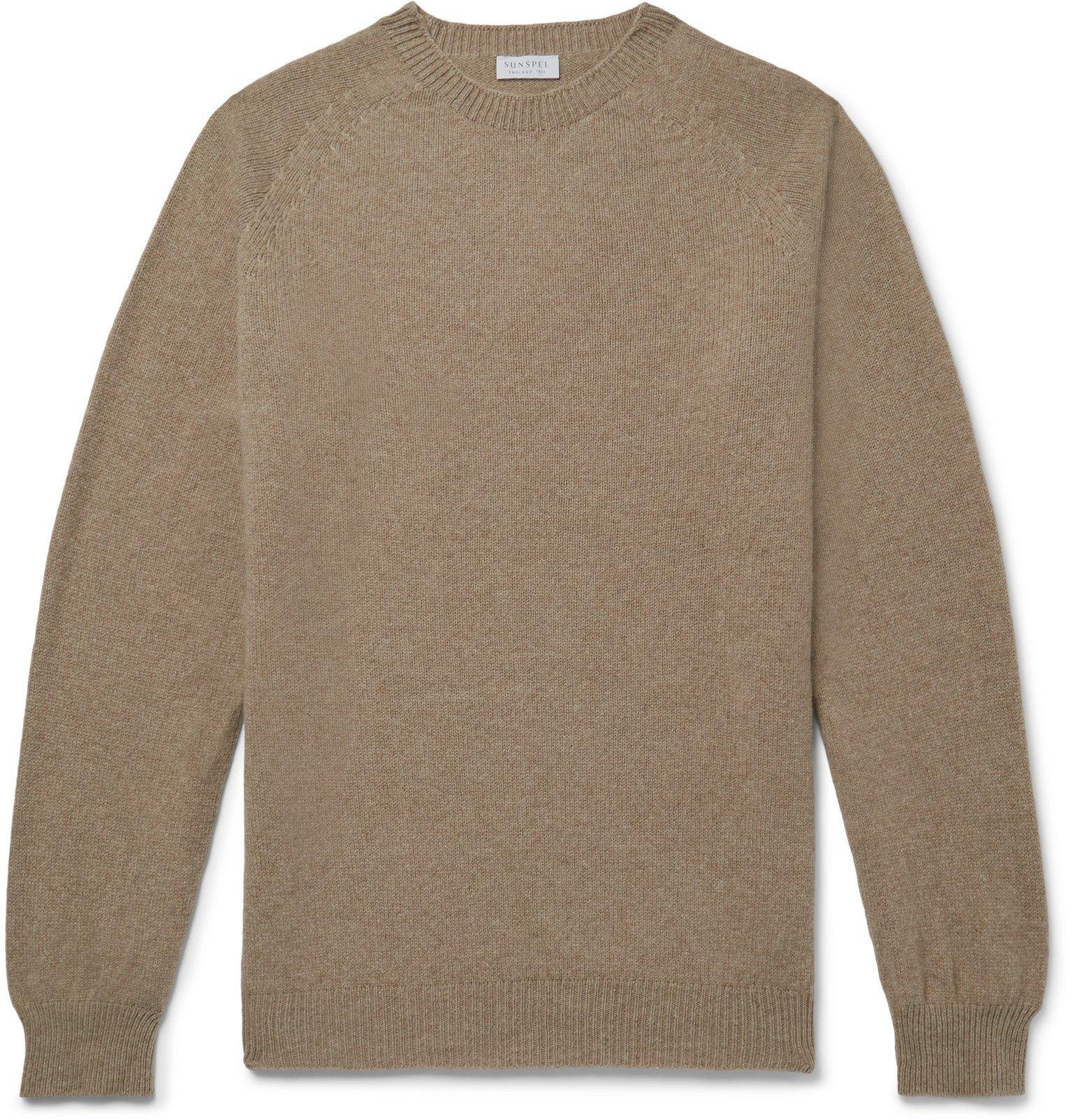 Sunspel - Slim-Fit Wool Sweater - Brown