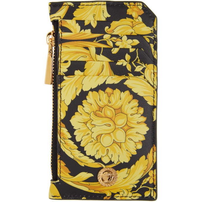 Photo: Versace Black and Gold Barocco Card Holder