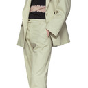 Aries Beige Gabardine Tailored Trousers