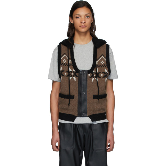 Photo: GR-Uniforma Brown Hoodie Vest