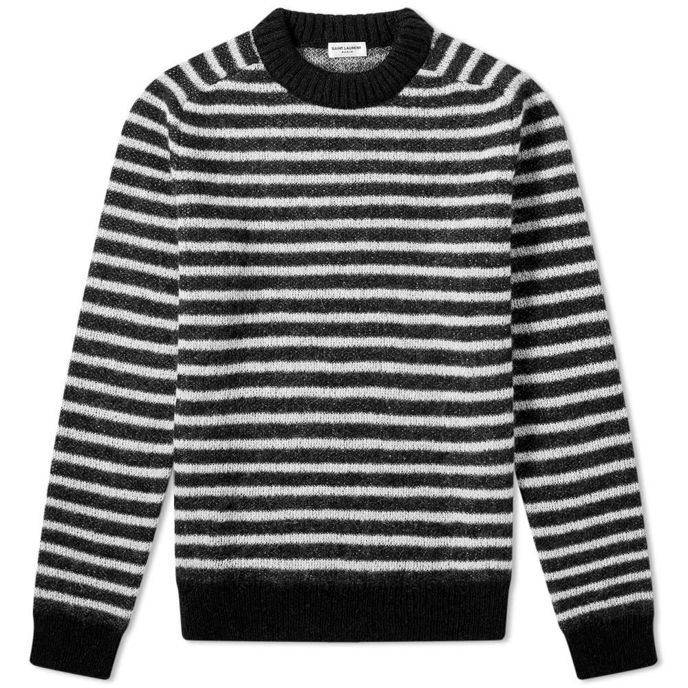Photo: Saint Laurent Stripe Mohair Knit