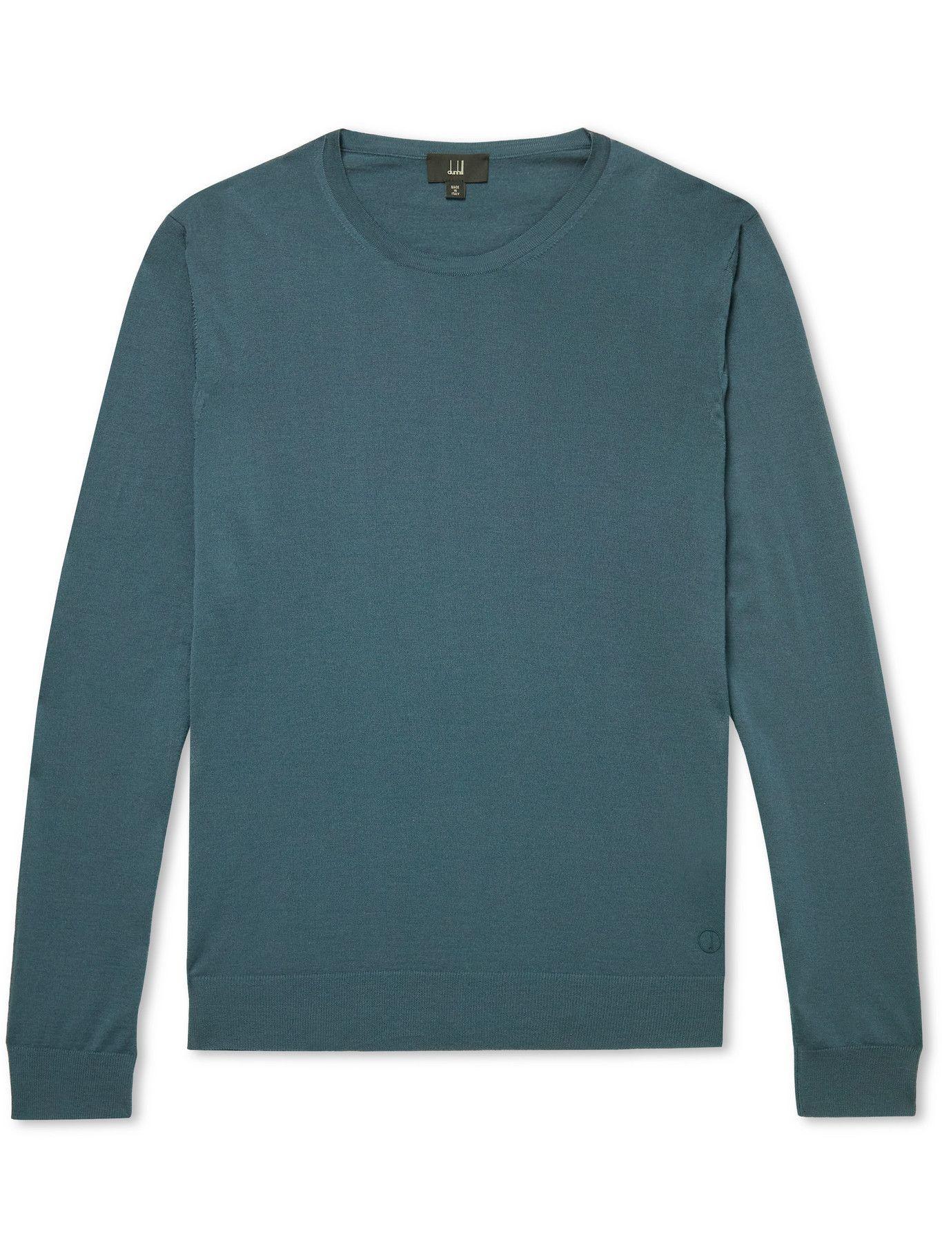 Dunhill - Merino Wool Sweater - Blue